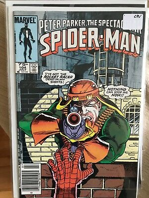 SPECTACULAR SPIDER-MAN #104 NM- 1st Print CANADIAN PRICE VARIANT Newsstand