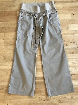 Gap beige maternity trousers size 8 100% cotton