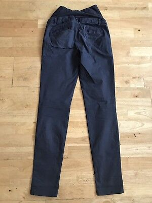 H&M mama navy blue maternity trousers size 6 Eu 34