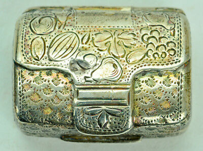 Antique English Sterling Silver Vinaigrette Early 19th Century NR