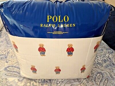 Ralph Lauren Boy Polo Bear King Size Comforter