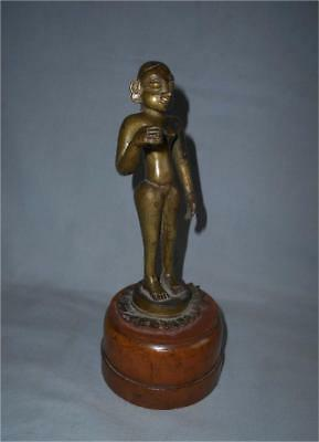 Antique India TOP VERY HIGH AGED LARGER BRONZE FEMALE SHRINE FIGURE DEITY