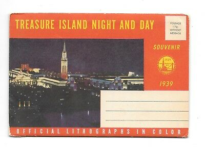 1939 Ggie Treasure Island Night And Day  16 Post Card Size Lithos Day And Night