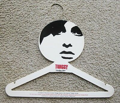 Vtg 60s Original TWIGGY London Girl Fashion Designer Pop Art Dress Hanger