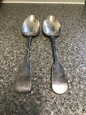 2 Silver Plate Spoons Mappin And Webb