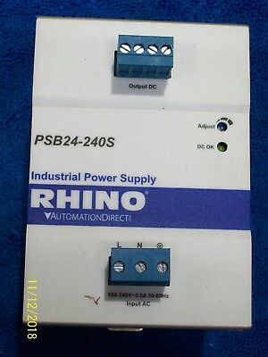 Automation Direct Rhino Industrial Power Supply , Psb24-240S-3
