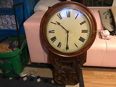 Vintage  Fusee Clock  With Large  Dial