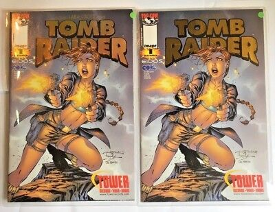 Tomb Raider comics #1tower records exclusive gold holofoil & gold foil cover NM/