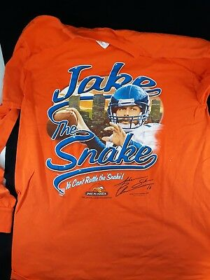 Jake The Snake Plummer Denver Broncos T Shirt Long Sleeve Size Medium