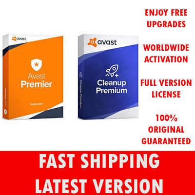 ⚡️ Avast Premier & Avast Cleanup, 10 PC's, 15 Years License (Digital Download) ⚡