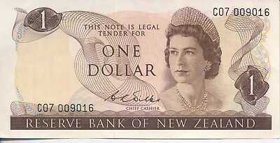 New Zealand $1 Note **about Uncirculated** Extraordinary Collection Addition