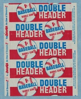 1955 Topps Doubleheader Baseball Kids Toy Wax Cello Pack