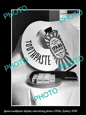 OLD LARGE HISTORIC PHOTO OF IPANA TOOTHPASTE ADVERTISING PHOTO c1930s SYDNEY