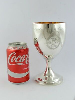V INTERESTING Sharp Shooters SILVER GOBLET, London 1801 RIFLE SUBSCRIPTION CUP