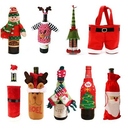 Novelty Wine Bottle Cover Ornaments Christmas Home Decor Xmas Gift Multi Styles
