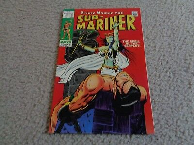 Sub-Mariner #9  ( Jan 1968 )--- The Spell Of The Serpent