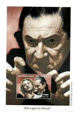 Chad - Bela Lugosi As Dracula - Souvenir Sheet - MNH