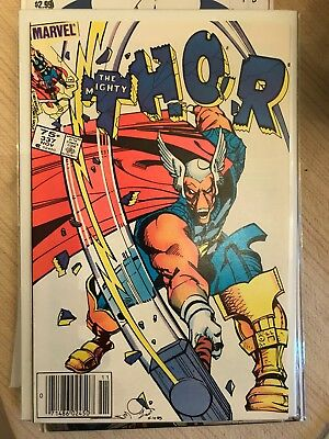 MIGHTY THOR #337 NM- 9.2 CANADIAN PRICE VARIANT Newsstand 1st App BETA RAY BILL
