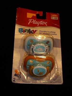 Playtex Ortho Pro Latex Pacifiers Baby Boy Infant 0-24 Cloud Goldfish Fish New