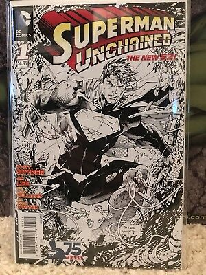 New 52 Superman Unchained Sketch Variant Lot - Issues 1-9. Issue 3 CGC 9.4
