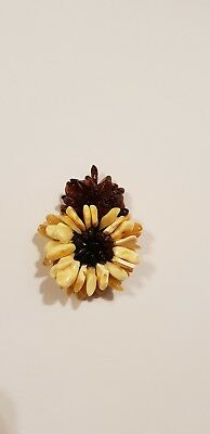 Unique Authentic Baltic Amber Brooch