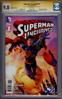 Superman Unchained #1 1:25 Variant! CGC SS 9.8! Signed by Scott Snyder & Jim Lee