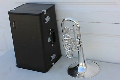 Yamaha YMP204M YMP Mello 204 YPM204 Marching Mellophone SILVER Case Mouthpiece