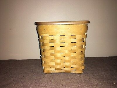 "Longaberger ""2004"" Tall Tissue Basket with Protector"