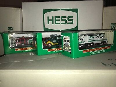 miniature Hess  trucks (lot of 3) New  1999 2000 2002 2001