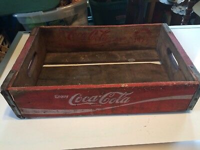 1972 Coca Cola Coke Case Carrying Crate Soda Pop Bottle Wooden 12x18 Chattanooga