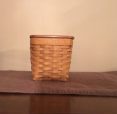 2003 Longaberger Tall Tissue Basket with Protector
