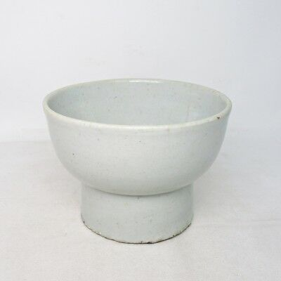 H990: Real old Korean bowl of white porcelain of appropriate Joseon-Dynasty age