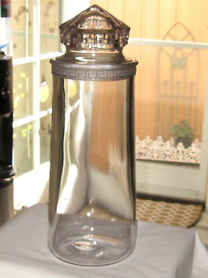 Vintage Greek Key Drug Store Apothecary Candy Jar 16""