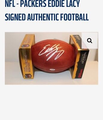 Nfl - Packers Eddie Lacy Signed Authentic Football
