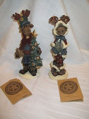 Boyds Bears Figurines Miliken Von Hinden Moose Beatrice the Giftgiver LIKE NEW