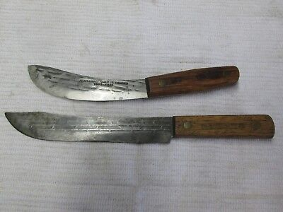Shapleigh Old Hickory Ontario Knife Butcher Knives Old Cutlery Estate Find