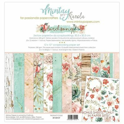 "Mintay Paper Collection 12 x 12"" Birdsong"