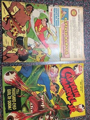 2 Comic Books Captain Marvel And Captain Marvel Jr No 117 And No 115
