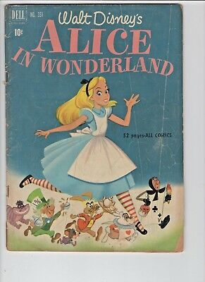 Walt Disney Alice in Wonderland #331 (Dell, May 1951) GD 2.0