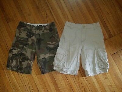2 Pairs Of Mens Cargo Shorts Size 28