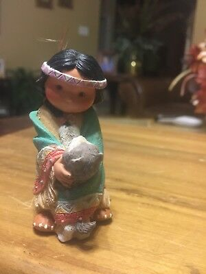 "1994 Friends Of A Feather Figurine By Karen Hahn Titled ""Dances With Wolf"""