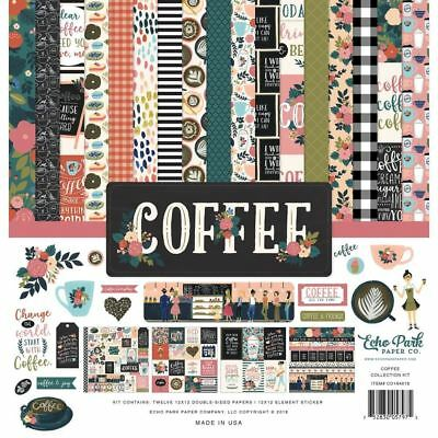 New Echo Park Paper Co Coffee 12 x 12 Paper Collection Kit - co164016