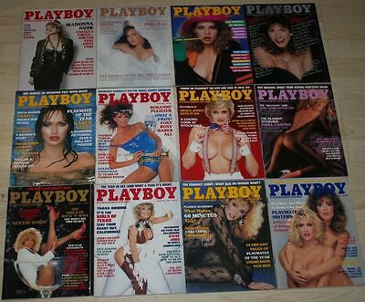 Playboy Magazine The Complete Year 1985 - 12 Complete Issues - with Madonna