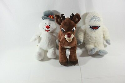 Build A Bear Christmas Plush Lot of 3, Rudolph, Frosty the Snowman, Abominable