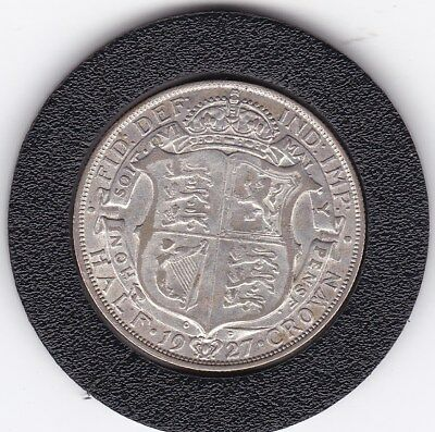 Very  Sharp  1927   King  George V  Half  Crown  (2/6d) -  Silver  Coin