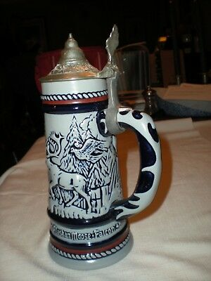 Vintage Avon Beer Stein Handcrafted in Brazil with original box from 1976