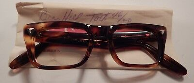 Vintage Swan Optical Beacon Hill Tortoise 46/20 Eyeglass Frame New Old Stock