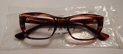 Vintage Abaco Leornardo Demi Amber 48/22 Men's Eyeglass Frame New Old Stock