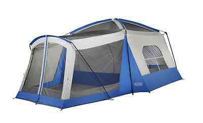 Big Tent Camping 8 Person Cabin Family Friends Awning Outdoor Shelter Room Kids