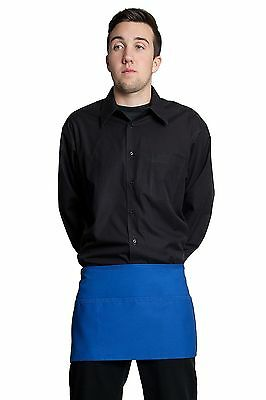 "Fiumara Apparel Waist Apron 3 Pocket Heavy Duty Cotton 12""L x 23""W - Royal Blue"